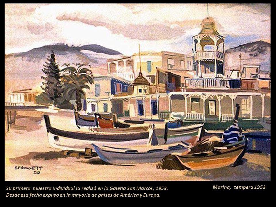 Su primera muestra individual la realizó en la Galería San Marcos, 1953. Desde esa fecha expuso en la mayoría de países de América y Europa.