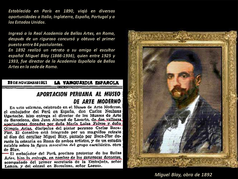 Establecido en París en 1890, viajó en diversas oportunidades a Italia, Inglaterra, España, Portugal y a los Estados Unidos.