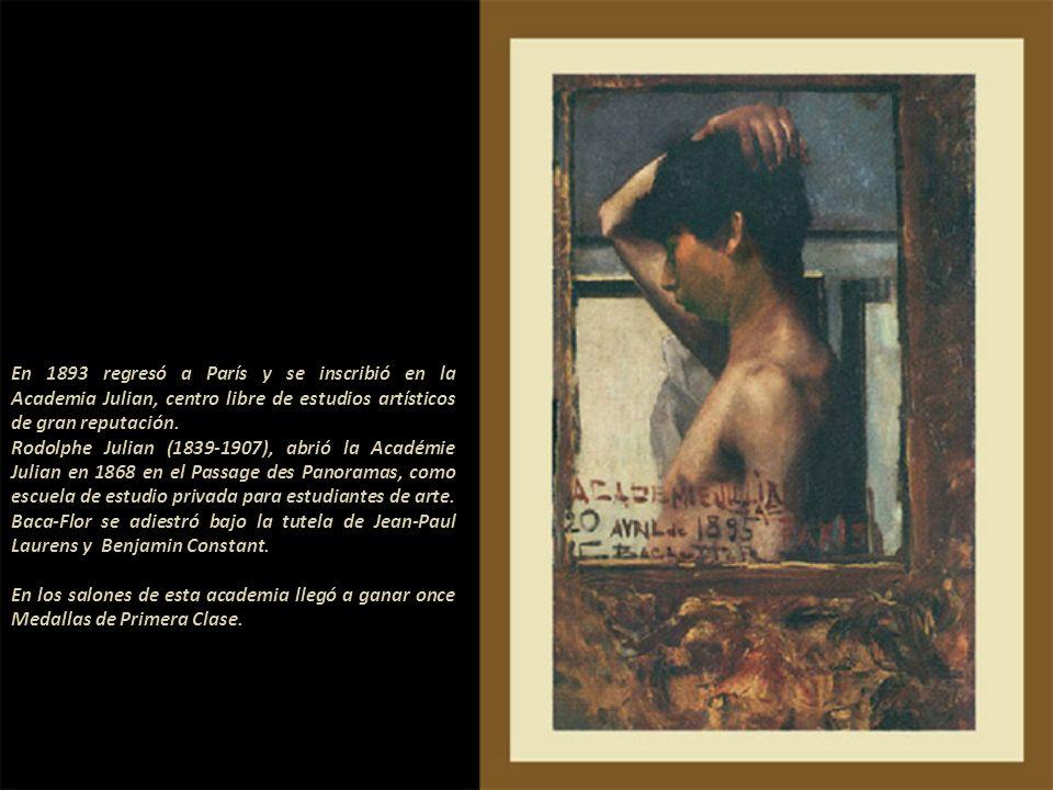 En 1893 regresó a París y se inscribió en la Academia Julian, centro libre de estudios artísticos de gran reputación.
