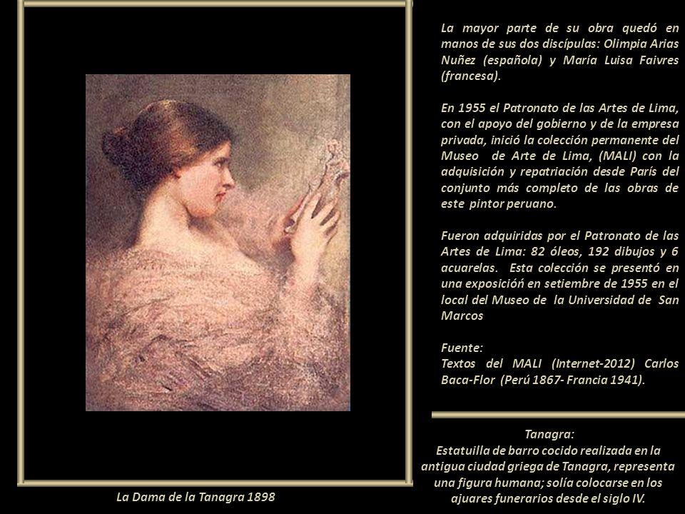La mayor parte de su obra quedó en manos de sus dos discípulas: Olimpia Arias Nuñez (española) y María Luisa Faivres (francesa).