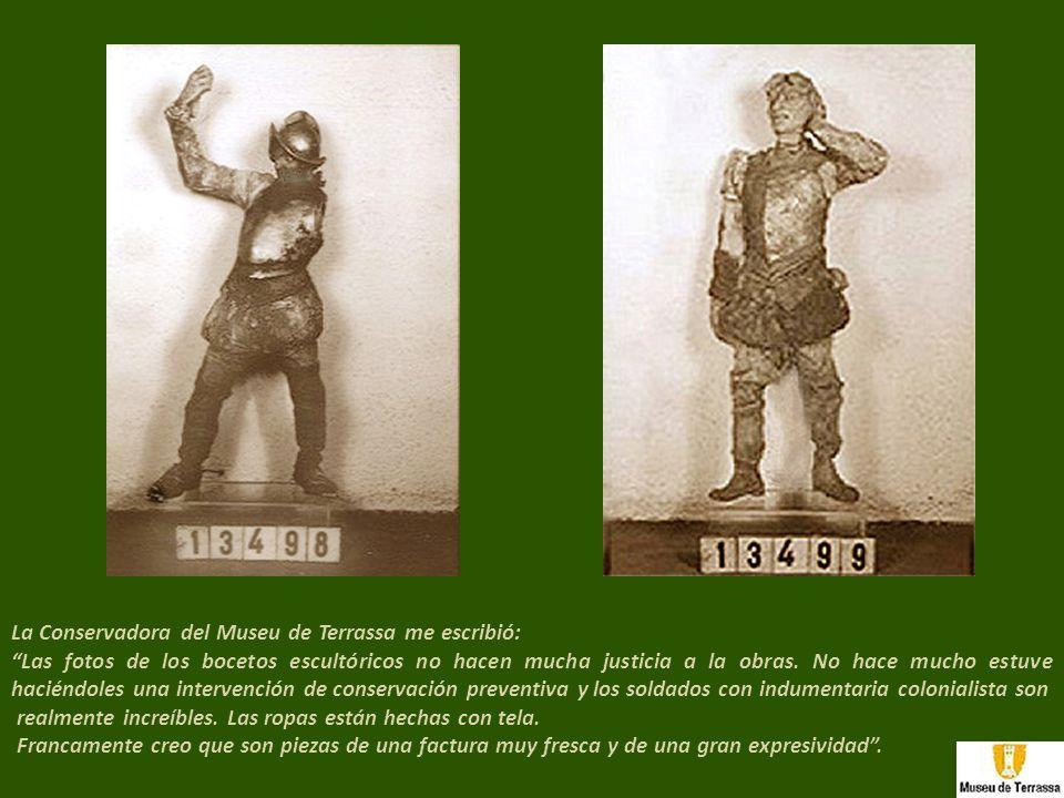 La Conservadora del Museu de Terrassa me escribió: