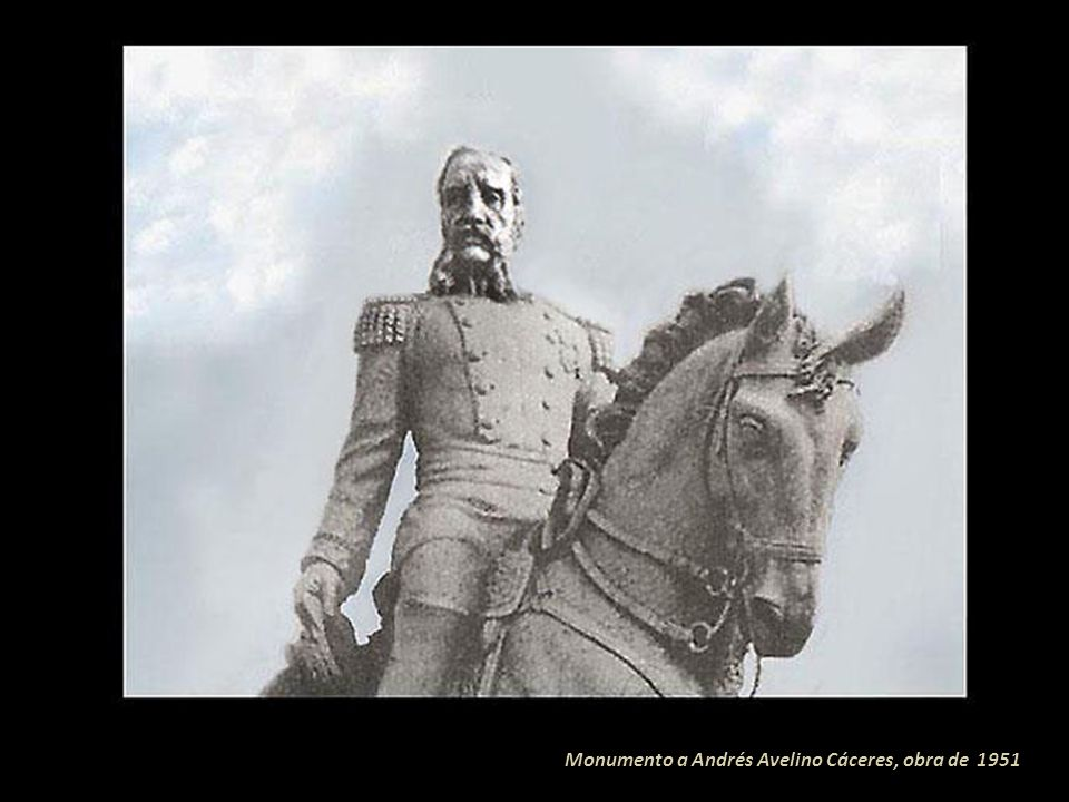 Monumento a Andrés Avelino Cáceres, obra de 1951