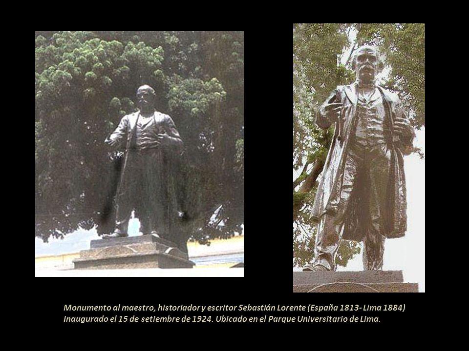 Monumento al maestro, historiador y escritor Sebastián Lorente (España 1813- Lima 1884)
