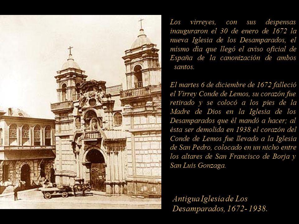 Antigua Iglesia de Los Desamparados, 1672- 1938.