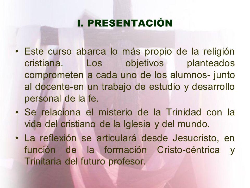 I. PRESENTACIÓN