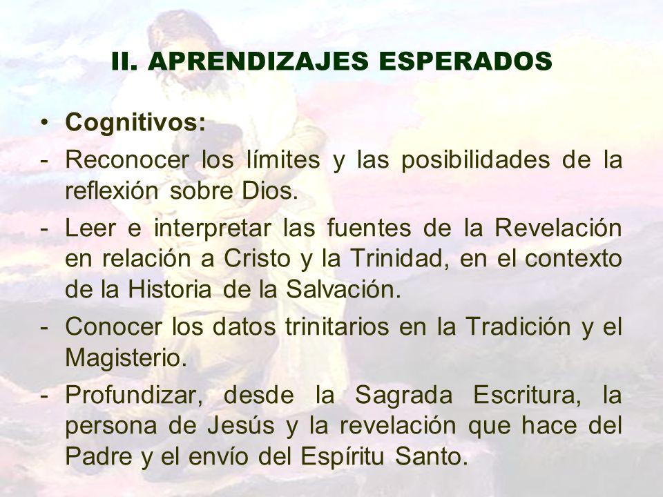 II. APRENDIZAJES ESPERADOS