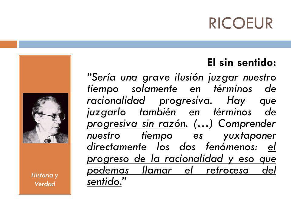 RICOEUR El sin sentido: