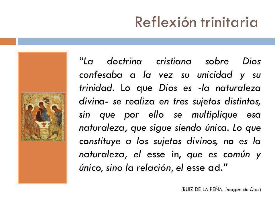 Reflexión trinitaria