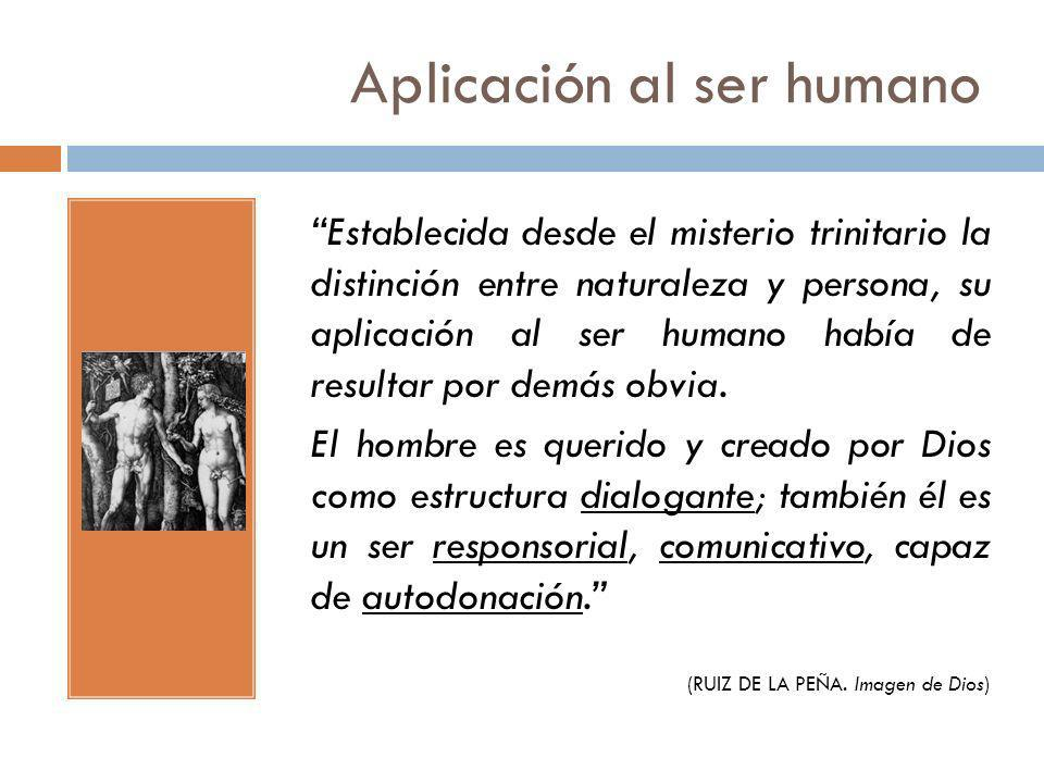Aplicación al ser humano