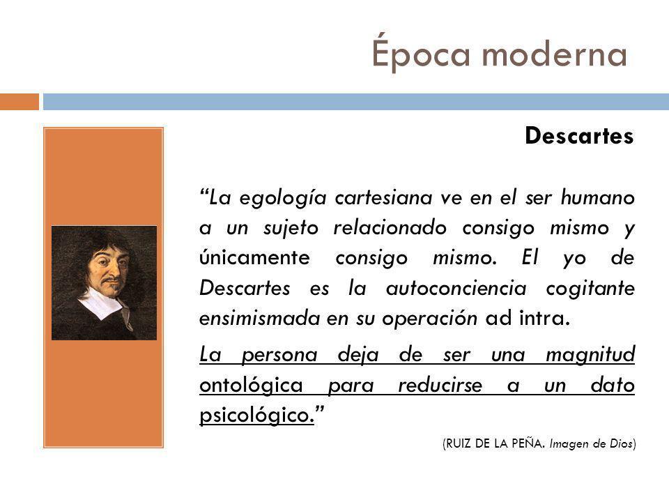 Época moderna Descartes