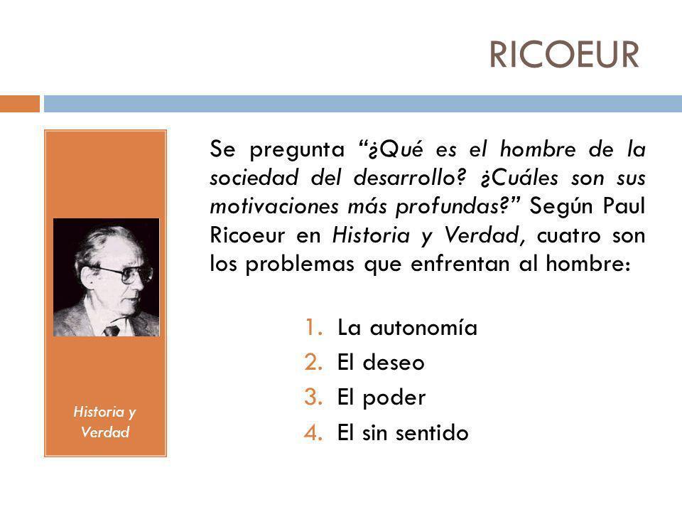 RICOEUR Historia y Verdad.