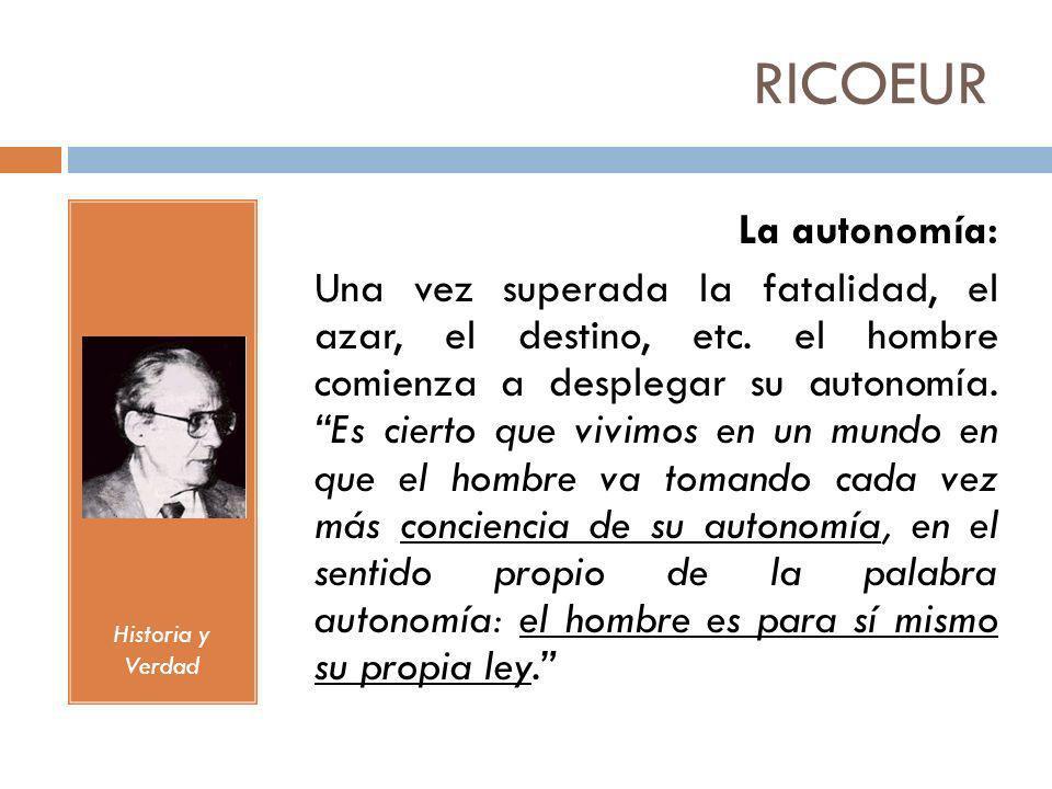 RICOEURHistoria y Verdad.