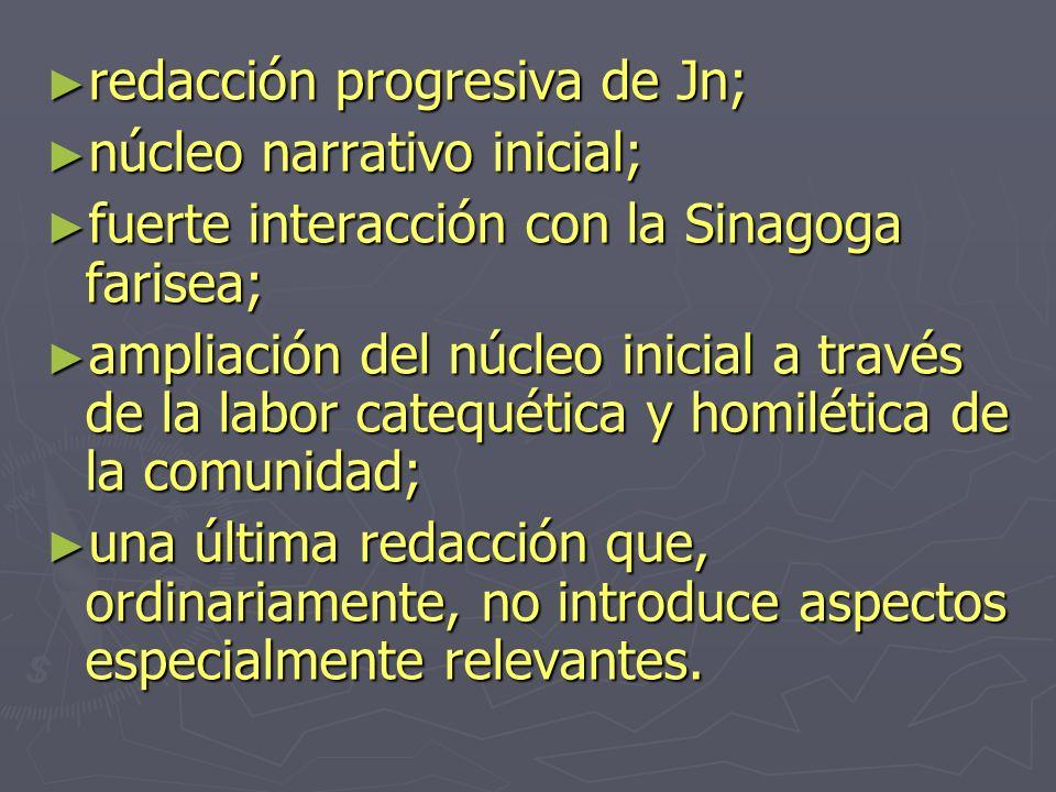 redacción progresiva de Jn;