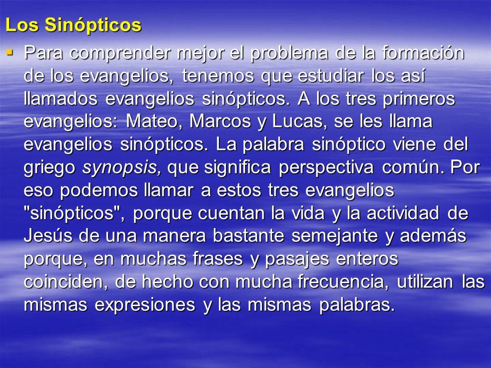 Los Sinópticos