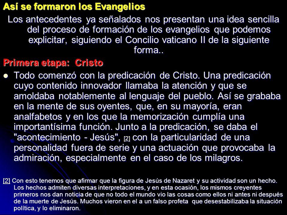 Así se formaron los Evangelios