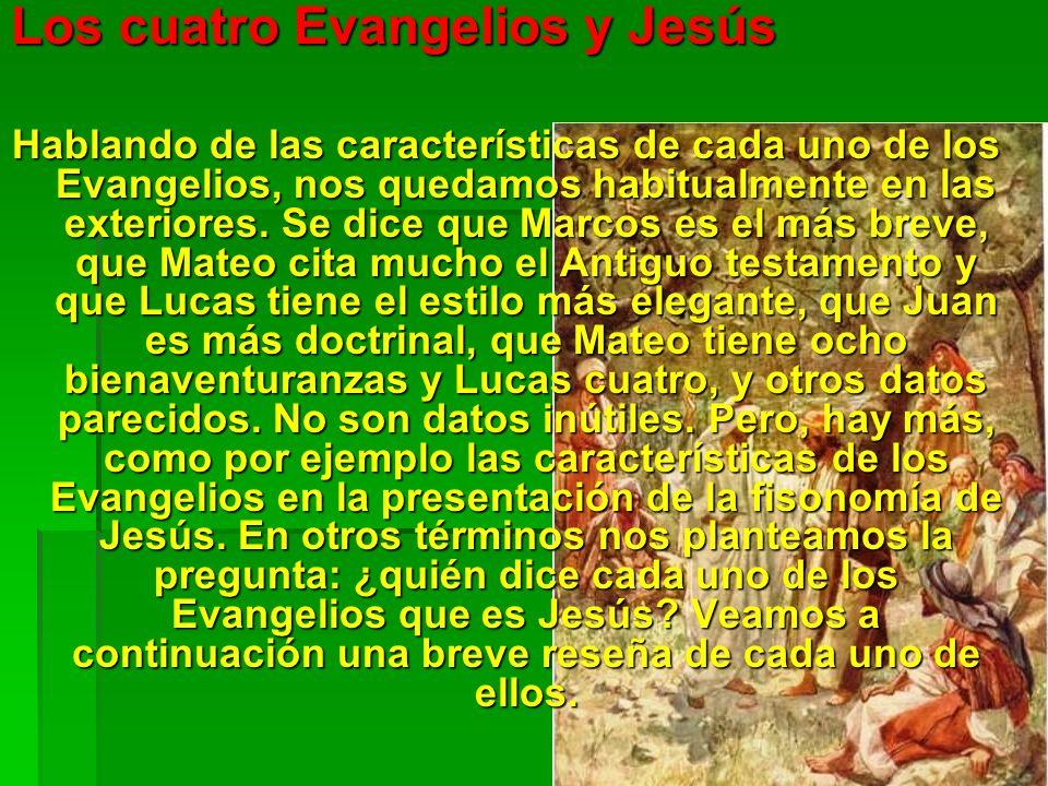 Los cuatro Evangelios y Jesús