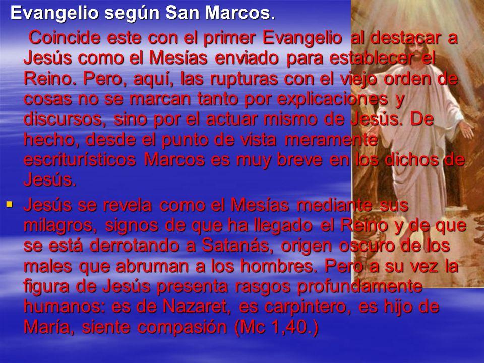 Evangelio según San Marcos.