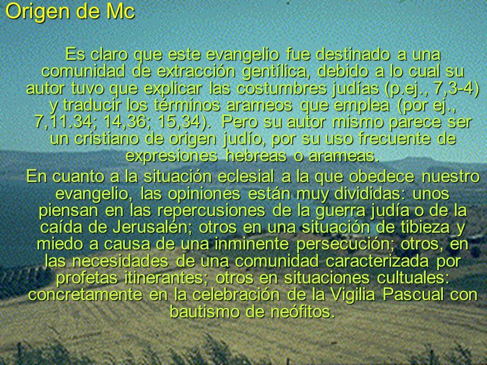 Origen de Mc