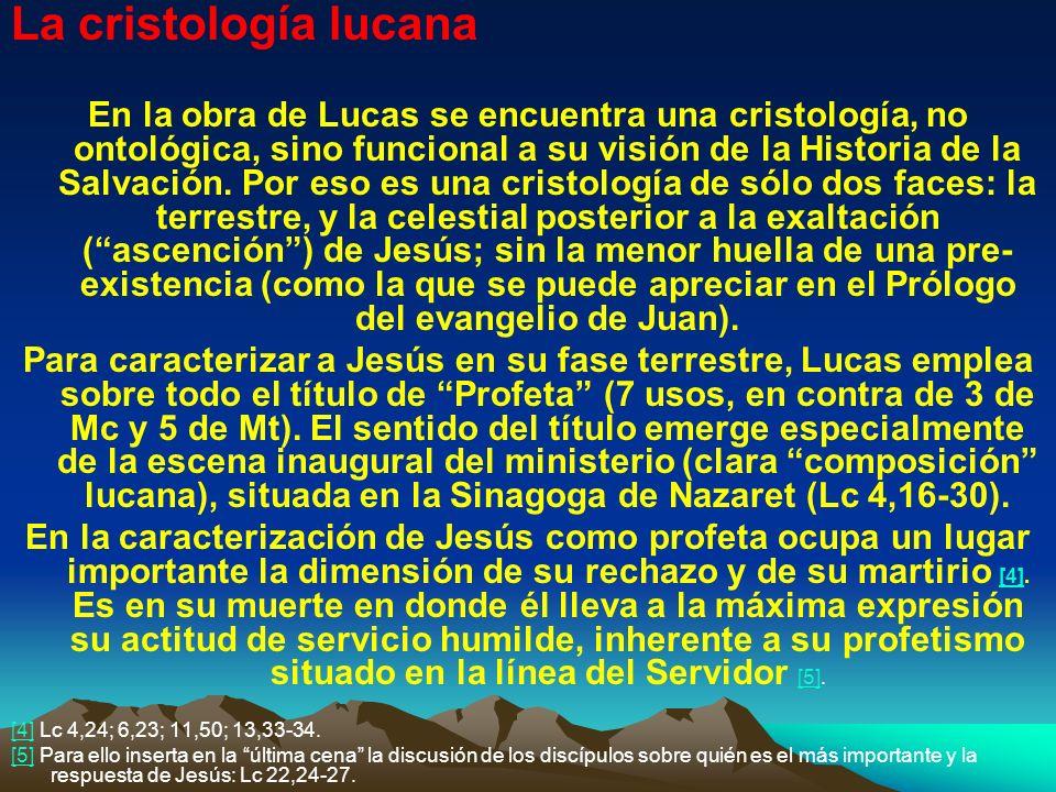 La cristología lucana