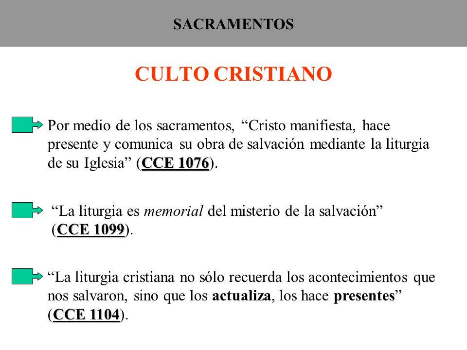 CULTO CRISTIANO SACRAMENTOS