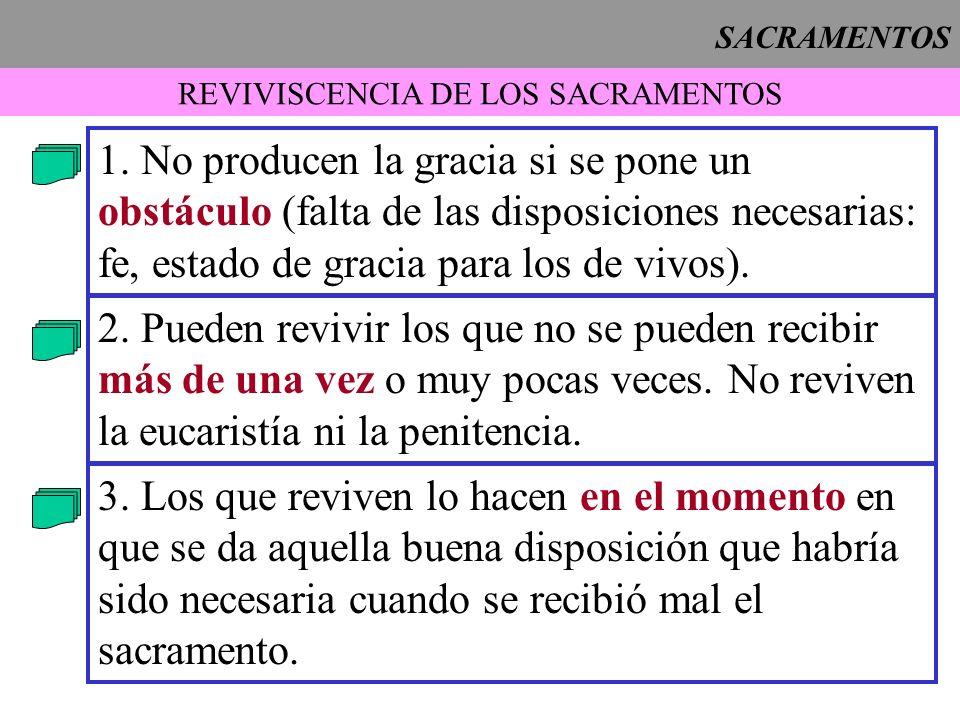 REVIVISCENCIA DE LOS SACRAMENTOS