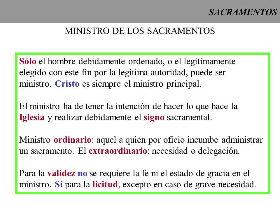 MINISTRO DE LOS SACRAMENTOS