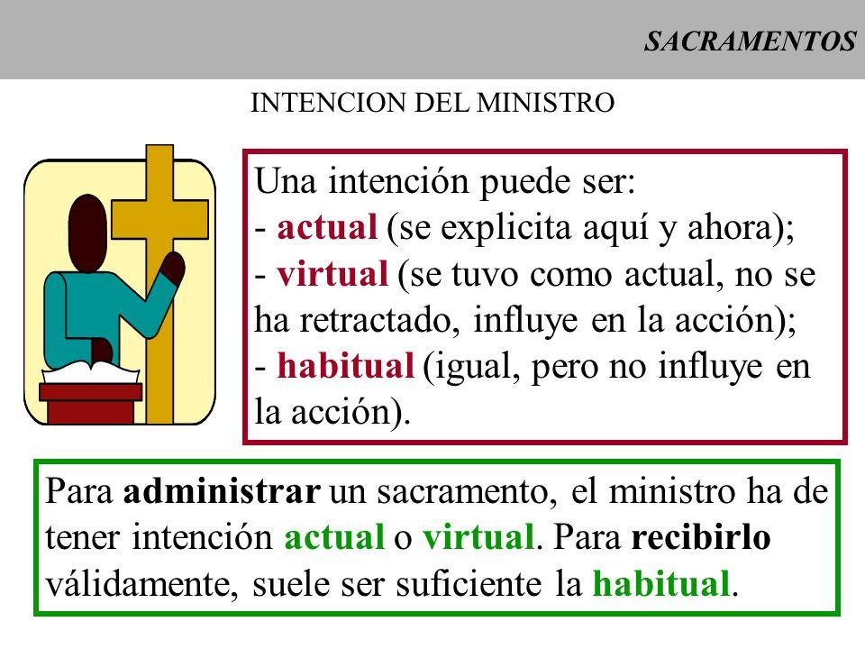 INTENCION DEL MINISTRO
