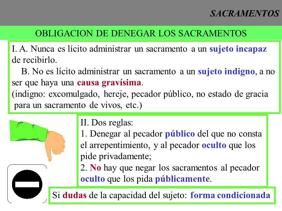 OBLIGACION DE DENEGAR LOS SACRAMENTOS
