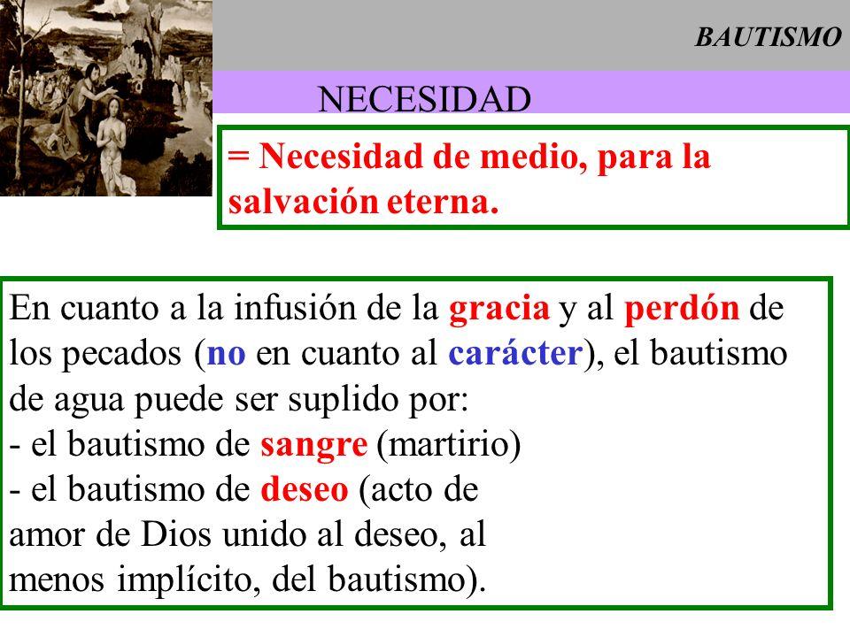 = Necesidad de medio, para la salvación eterna.