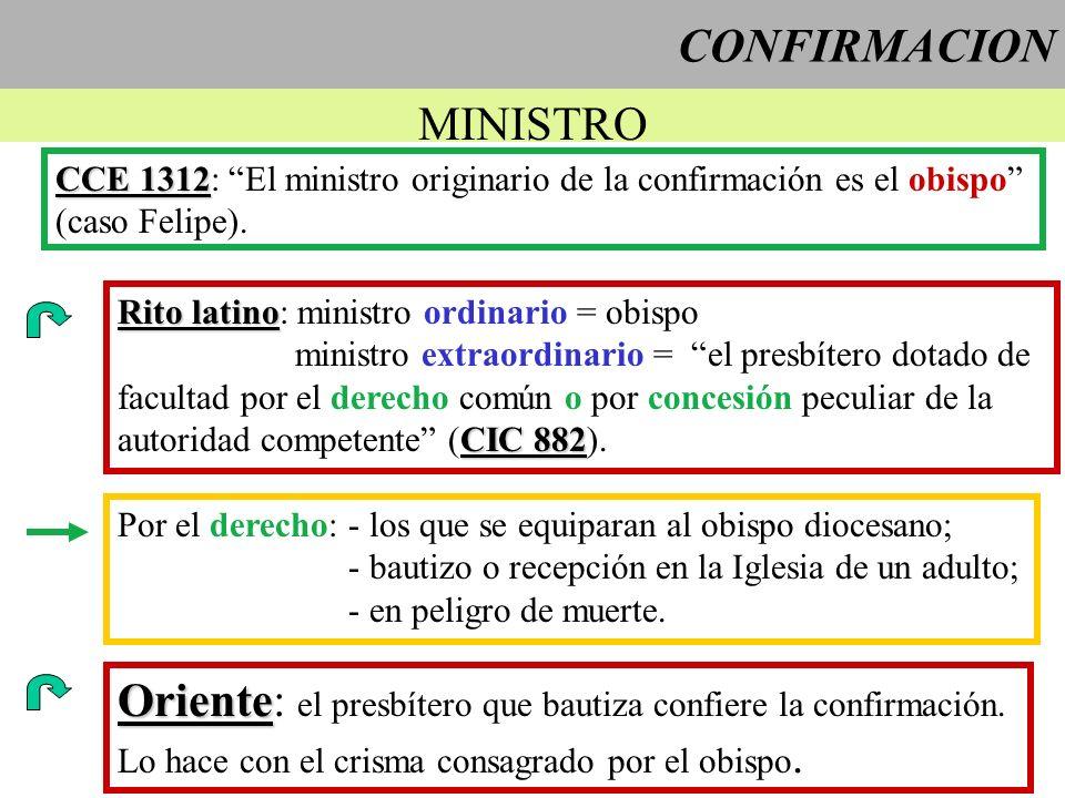 Oriente: el presbítero que bautiza confiere la confirmación.