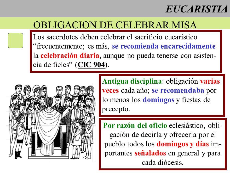 OBLIGACION DE CELEBRAR MISA