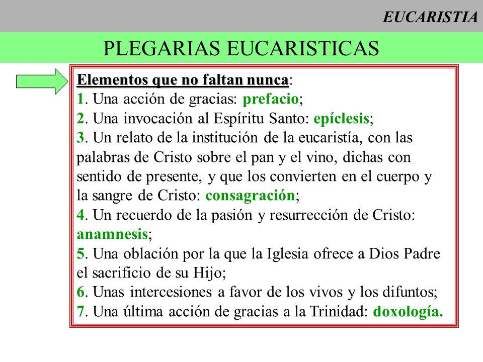PLEGARIAS EUCARISTICAS