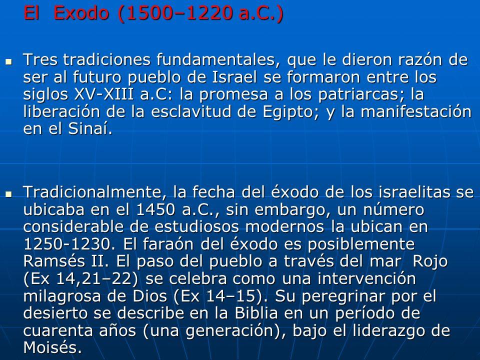 El Exodo (1500–1220 a.C.)