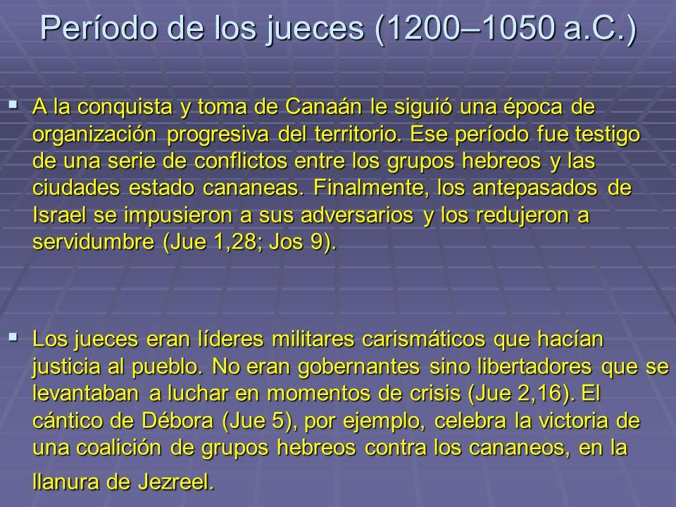 Período de los jueces (1200–1050 a.C.)