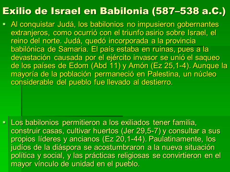 Exilio de Israel en Babilonia (587–538 a.C.)
