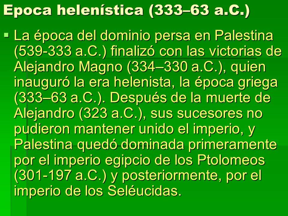 Epoca helenística (333–63 a.C.)