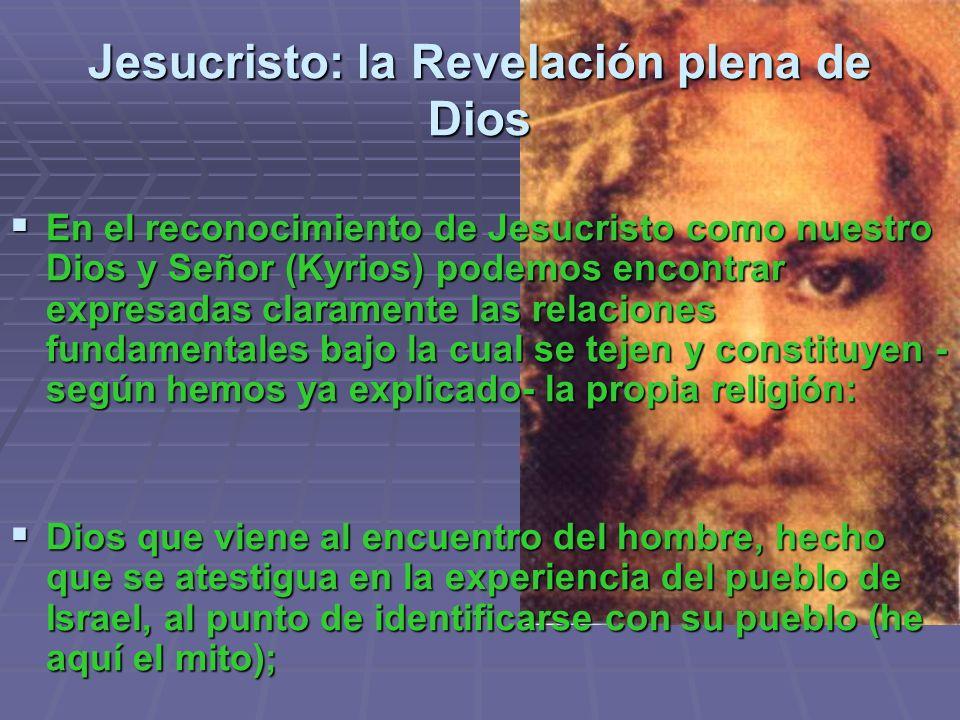 Jesucristo: la Revelación plena de Dios