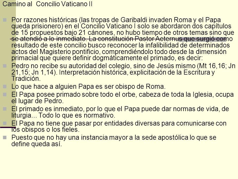 Camino al Concilio Vaticano II