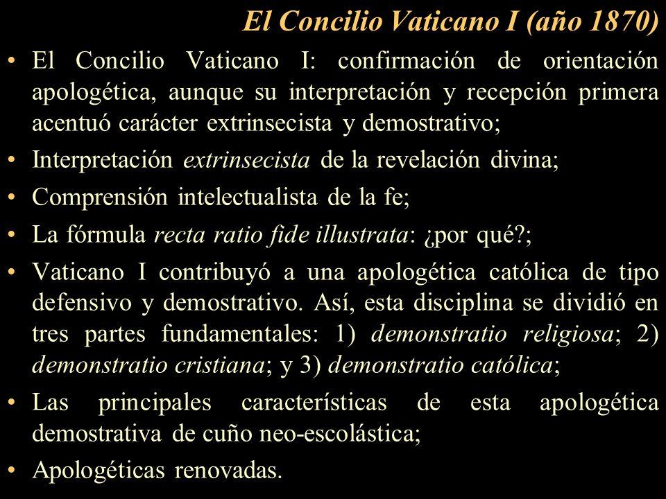 El Concilio Vaticano I (año 1870)
