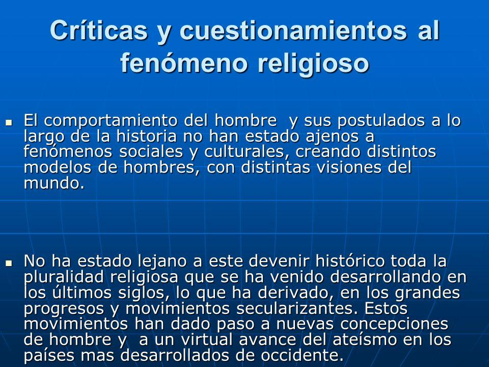 Críticas y cuestionamientos al fenómeno religioso