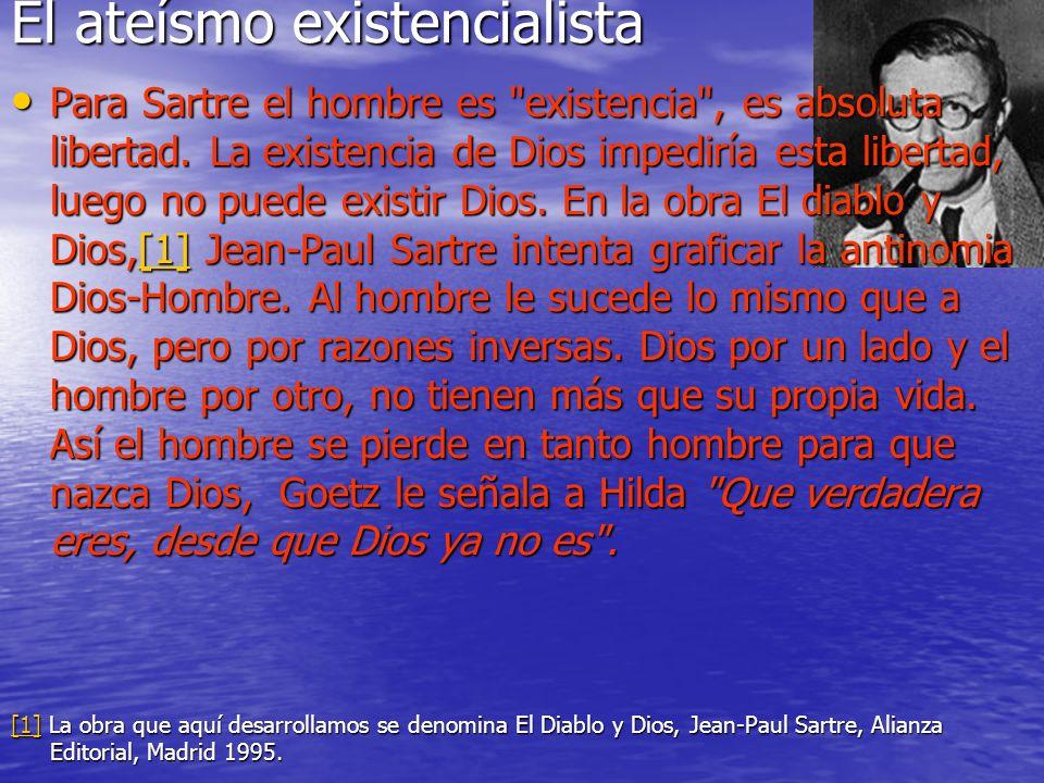 El ateísmo existencialista