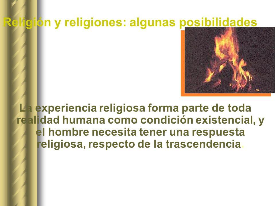 Religión y religiones: algunas posibilidades
