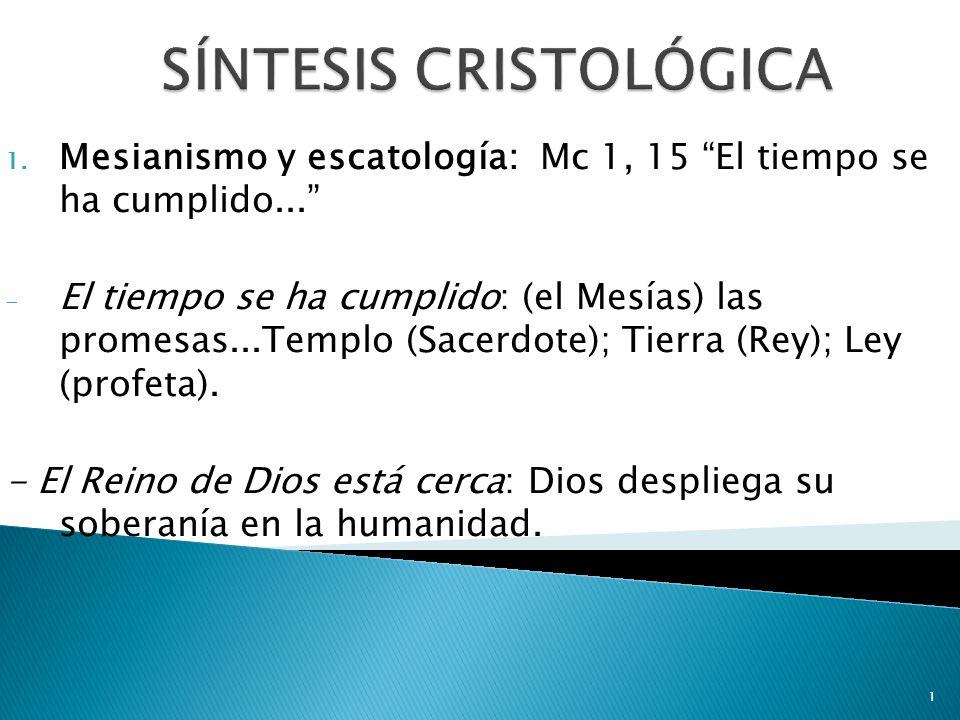 SÍNTESIS CRISTOLÓGICA