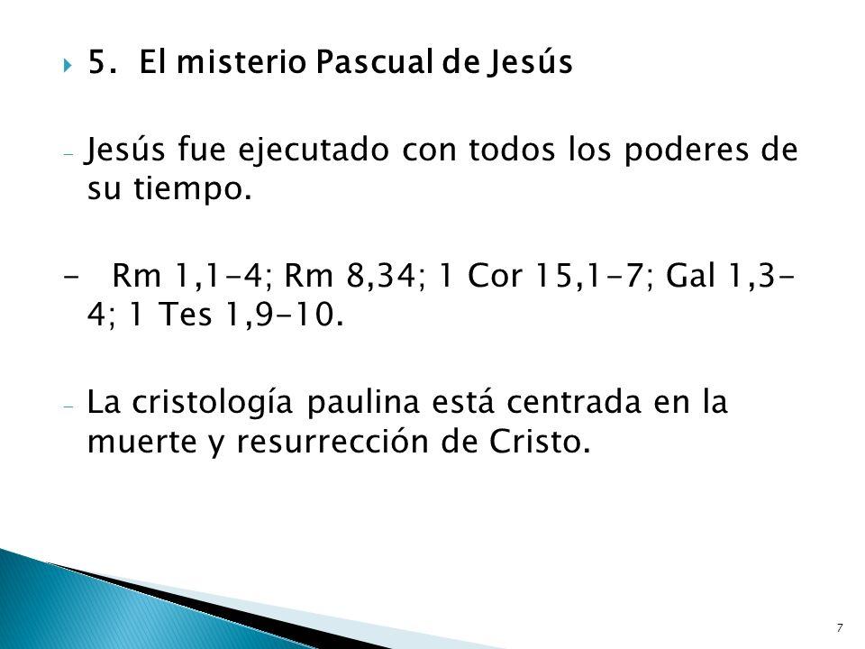 5. El misterio Pascual de Jesús
