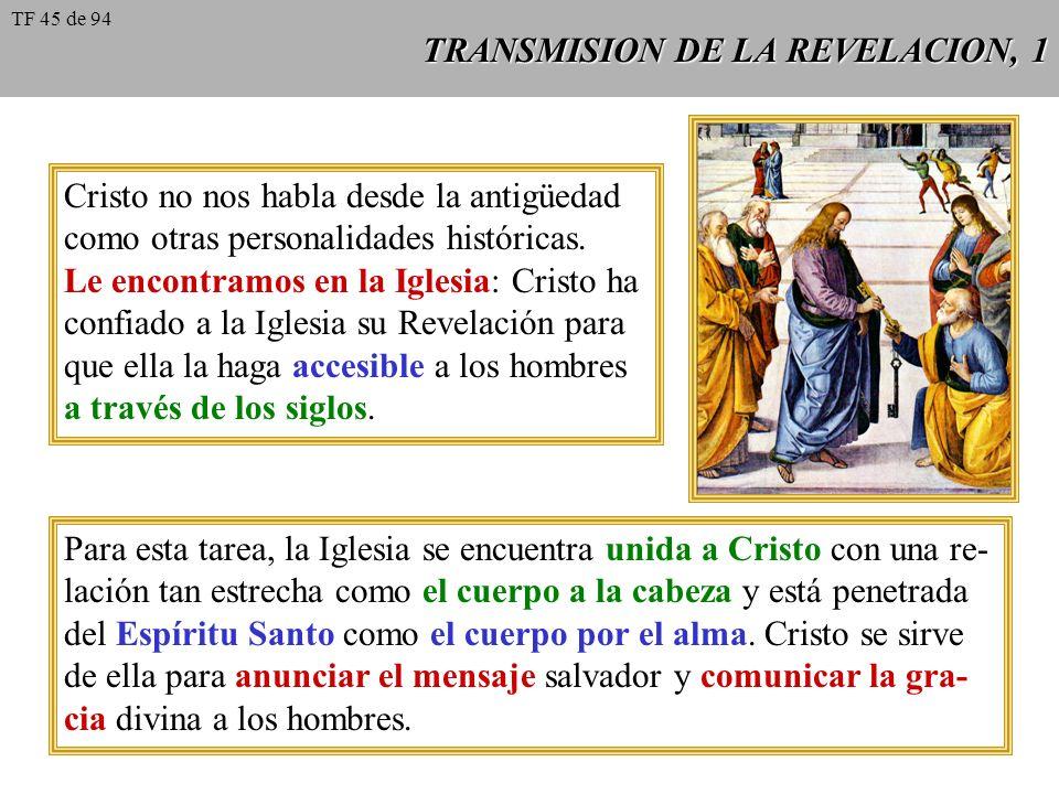 TRANSMISION DE LA REVELACION, 1