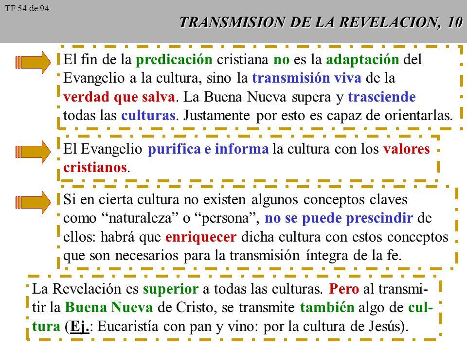TRANSMISION DE LA REVELACION, 10