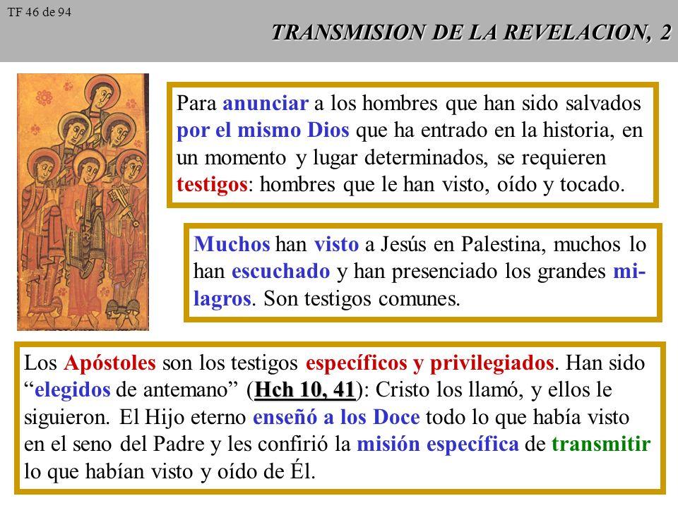 TRANSMISION DE LA REVELACION, 2
