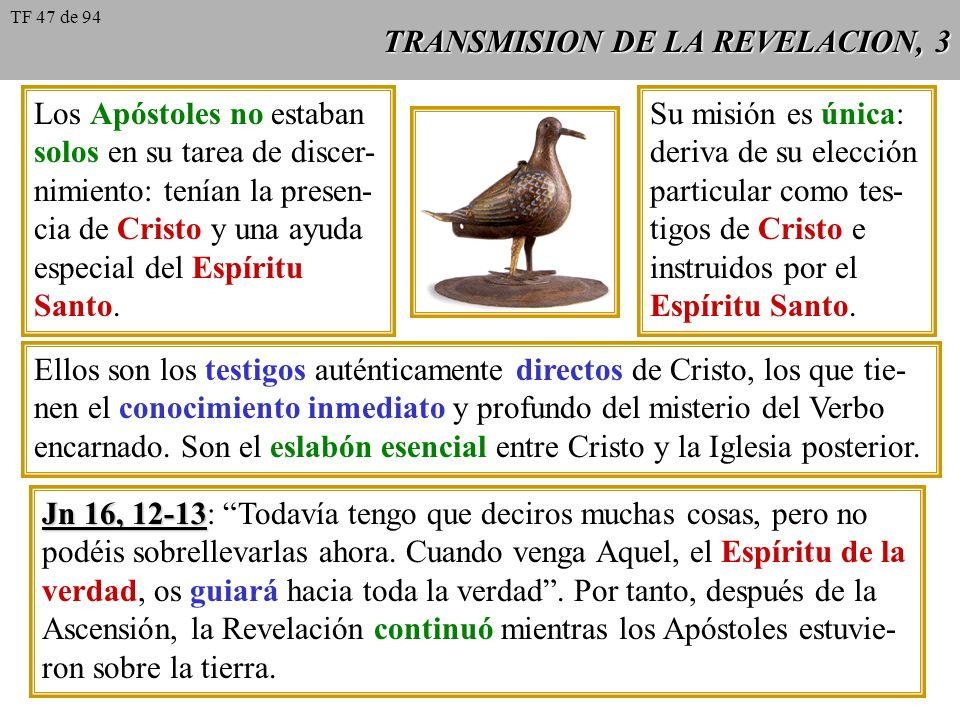 TRANSMISION DE LA REVELACION, 3