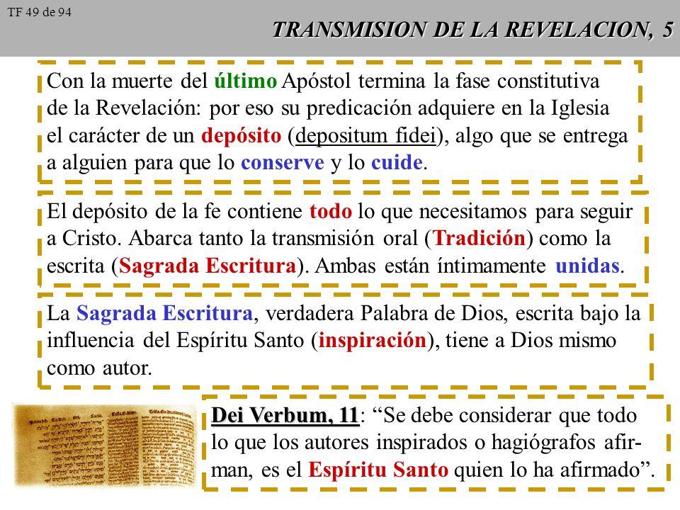 TRANSMISION DE LA REVELACION, 5