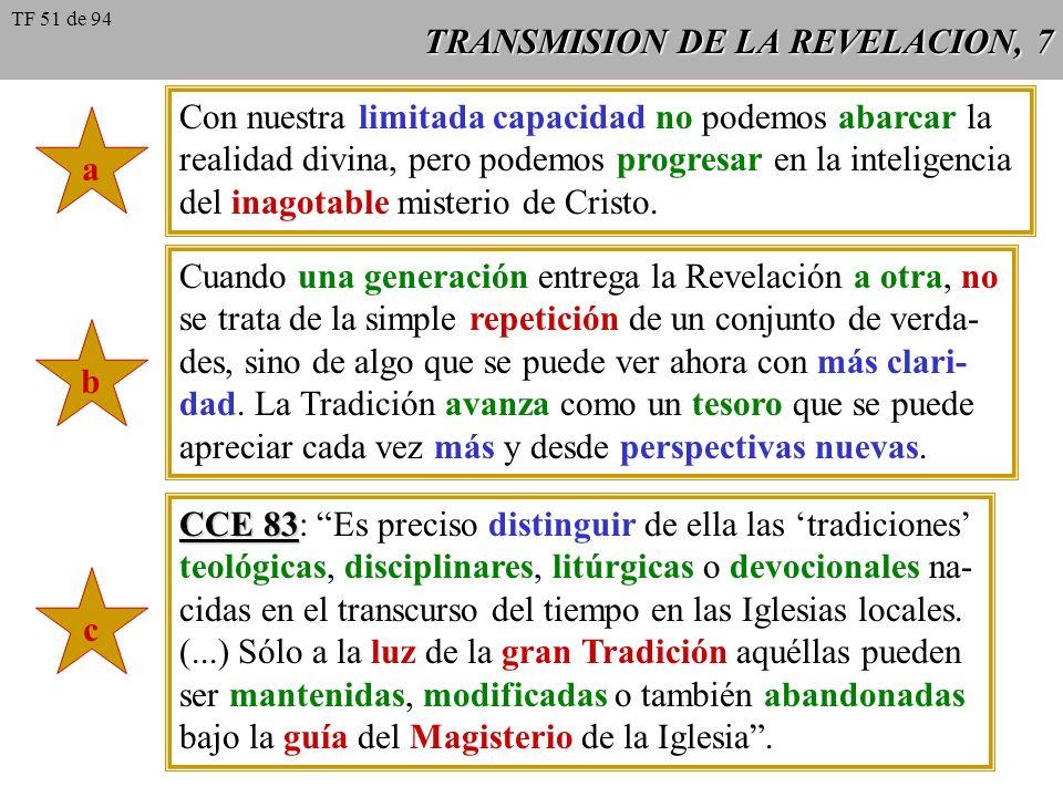 TRANSMISION DE LA REVELACION, 7